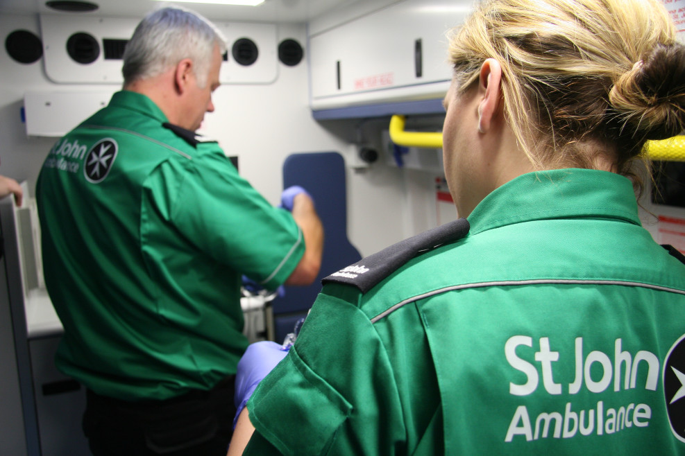 St John Ambulance volunteers at work