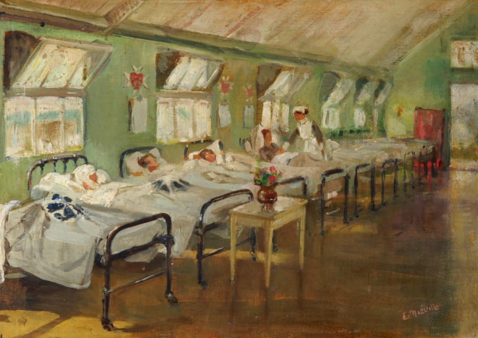 Ward of the Order Hospital at Étaples, by Emma Mieville, 1917