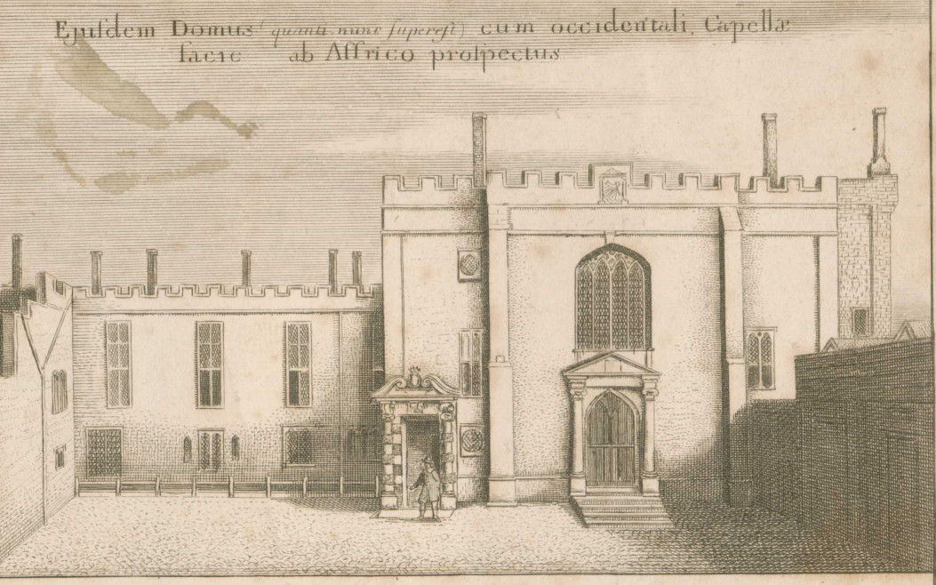 The Priory Church of St John, Clerkenwell, after an engraving by Wenceslaus Holler, 1661