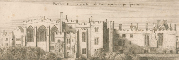 The Priory at Clerkenwell, after an engraving by Wenceslaus Hollar, 1661