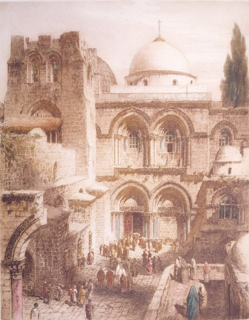 Church of the Holy Sepulchre, Jerusalem, by Henry Alphage Brewer, 20th century