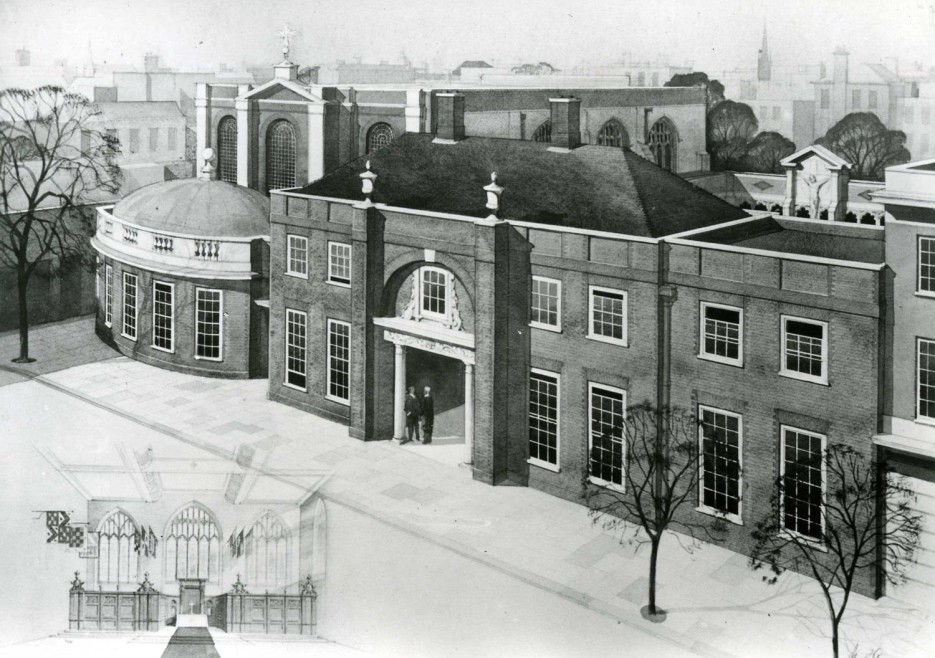 Artist's impression of the Priory Church of the Order of St John, Clerkenwell, c.1950s
