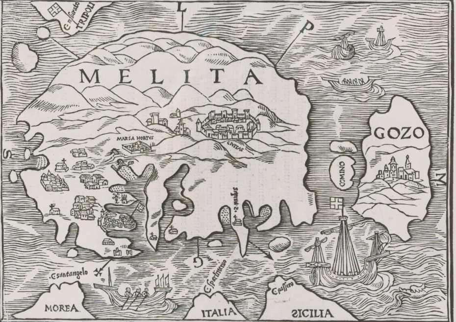 Map of Malta, 16th century
