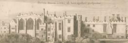 The Monastery of St John of Jerusalem, taken from Wenceslaus Hollar's 1656 engraving