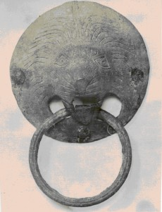 Lion door knocker, 14th century, excavated from the site of the Order's hospital in Jerusalem (LDOSJ 5617).