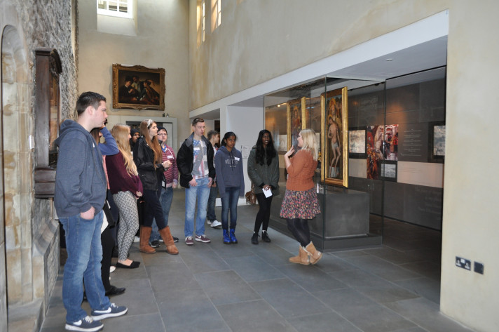 A tour for the cadets of the Museum Of The Order Of St John on the first day.