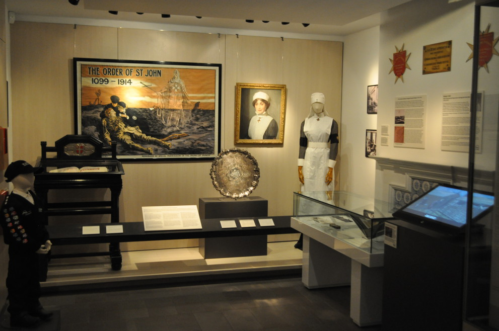The Museum's new First World War display.