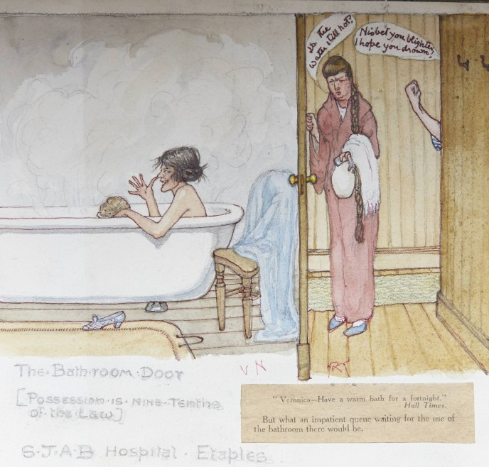 'The Bathroom Door', reproduced by kind permission of Veronica Nisbet's family