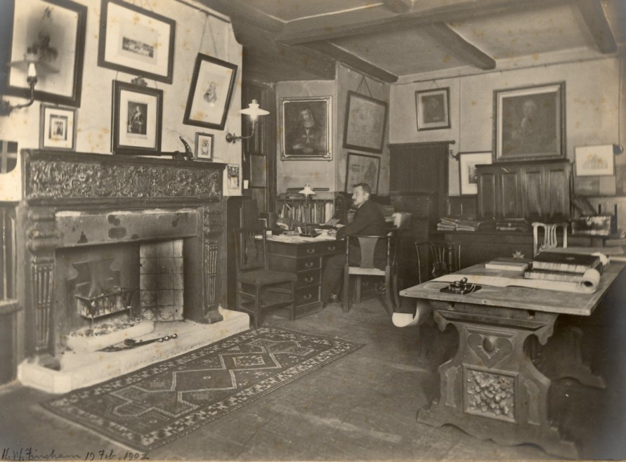 The Old Chancery in 1902, before the Chapter Hall extension