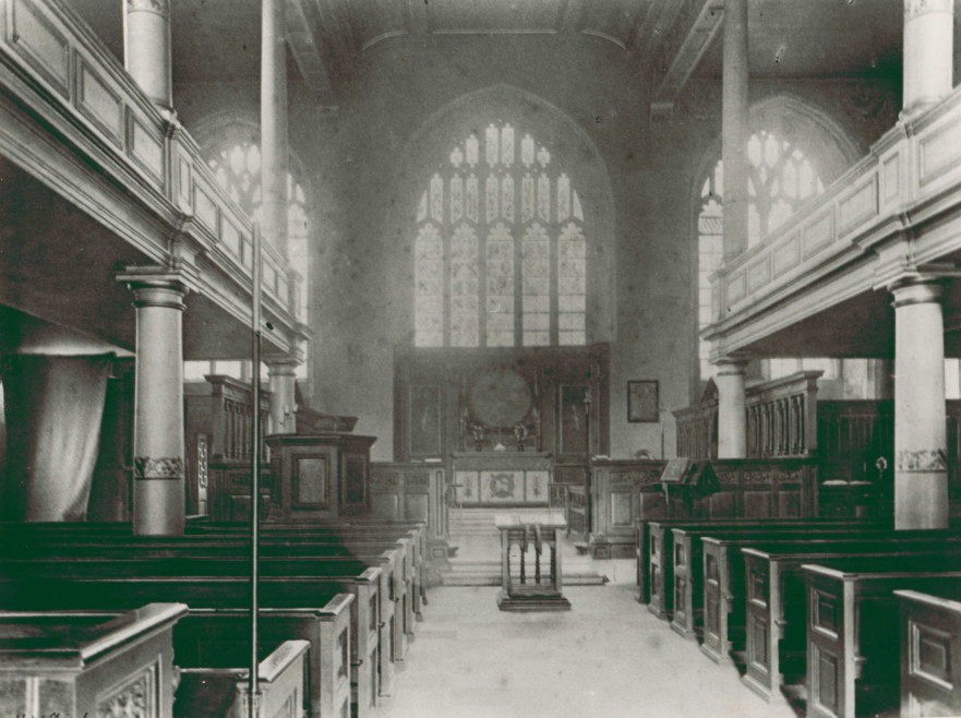 The interior of the Priory Church c.1900