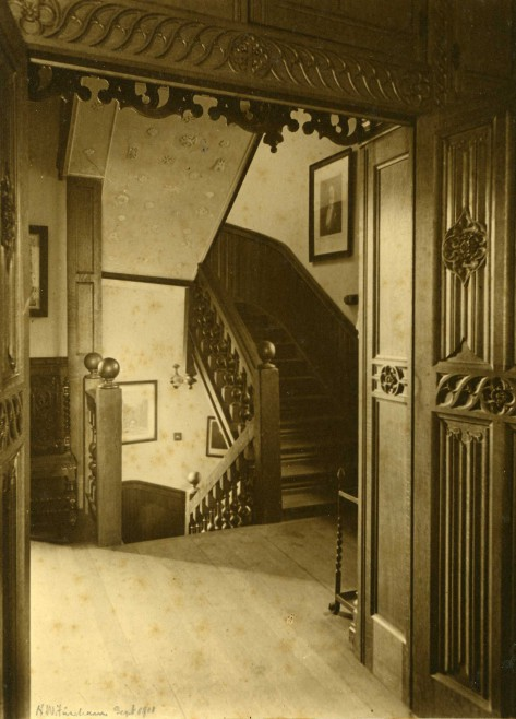 The East Tower staircase, 1911