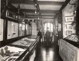 The first Museum room, with henry Fincham in front of the window