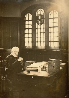 Henry Fincham at his desk in what is now the Museum reception