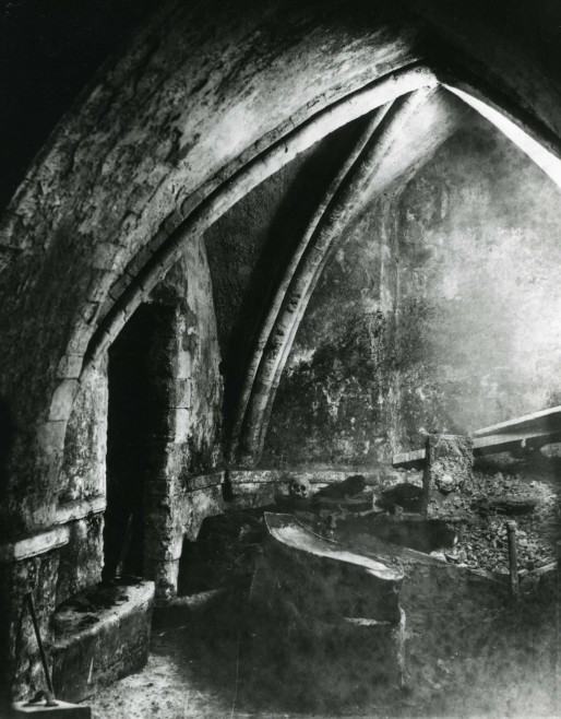 The interior of the crypt, 1890s