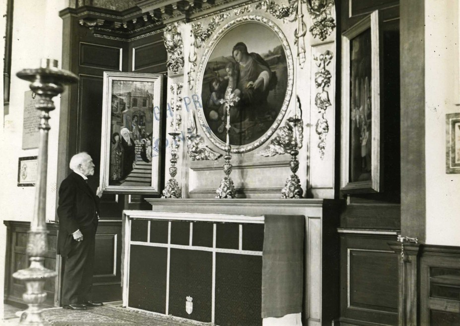 The altar of the Priory Church, with the Weston triptych in situ