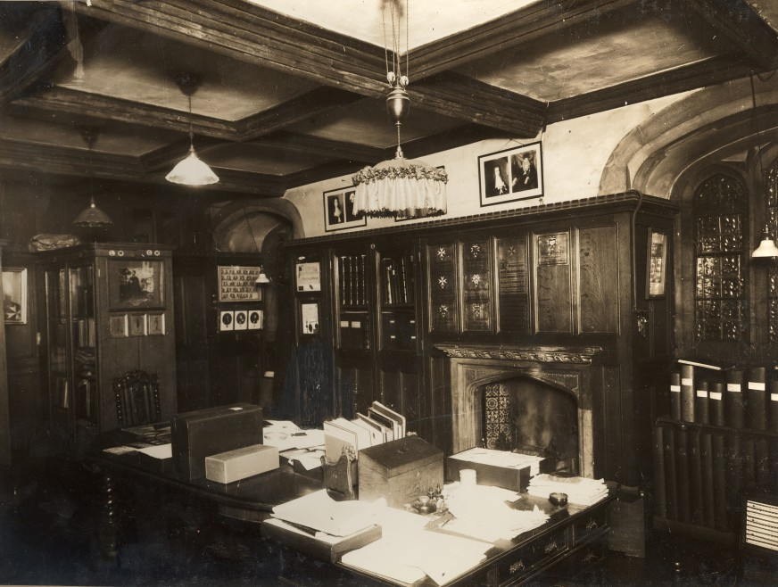 The Priory Room, now the Museum reception, 1930s