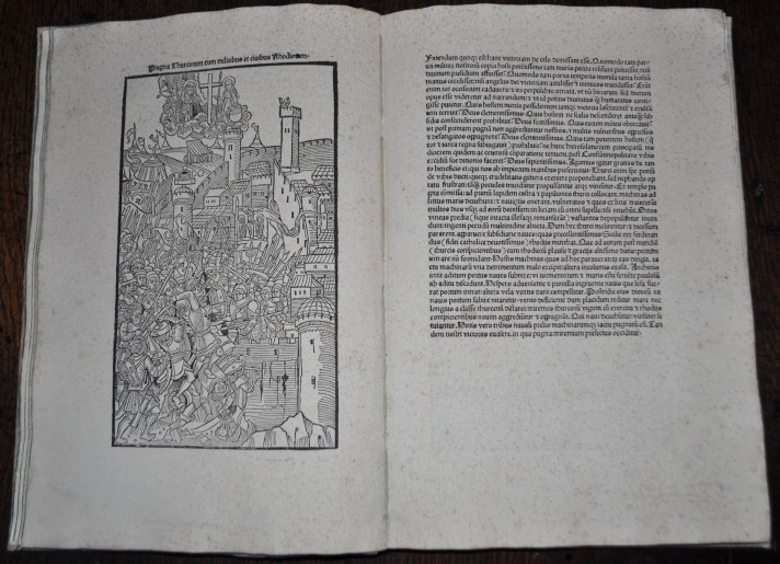 Guillaume Caoursin's Descriptio obsidione Rhodiae printed in Ulm in 1496