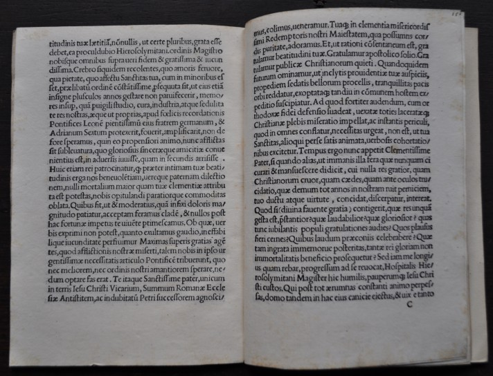 Thomas Guichard's Oratio .... coram Clemente VII Pont. Max., printed in Rome in 1524