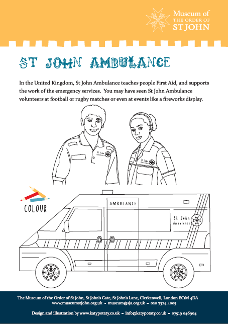 St John Ambulance Colouring Sheet