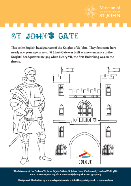 St John's Gate Colouring Sheet