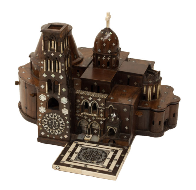 Model of the Church of the Holy Sepulchre. LDOSJ3033. Museum of the Order of St John and University of Birmingham 2016