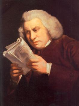 A portrait of Samuel Johnson by Joshua Reynolds 1775