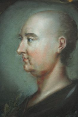 A portrait of Jonathan Swift by Rupert Barber, 1745