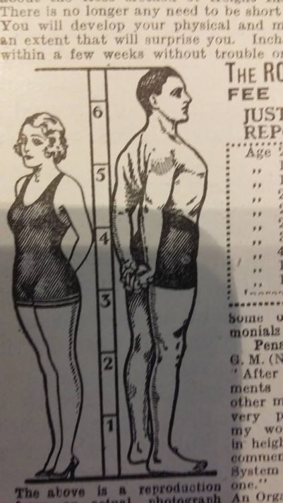 "ALT=""drawing of a man and a woman standing beside a height measurement"""