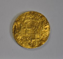 "ALT=""historic gold coin with shield decoration"""
