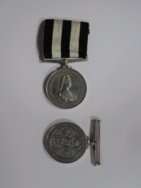A Service Medal, obverse and reverse