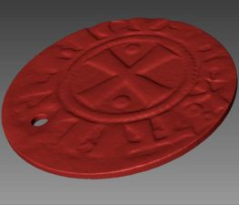 "ALT=""red 3D scan of a coin"""