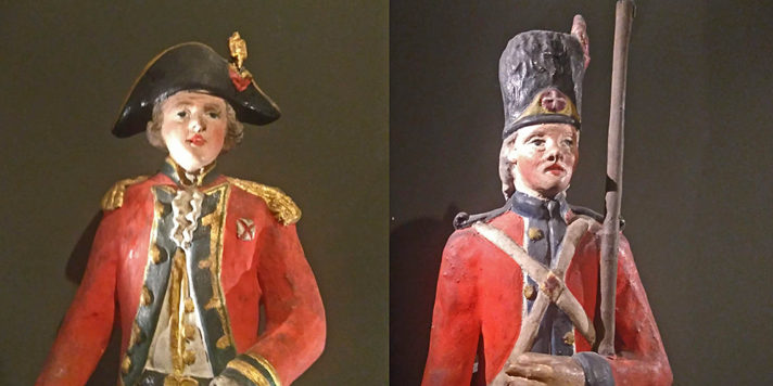Model soldiers of the kind made and sold in Malta in the 1800s