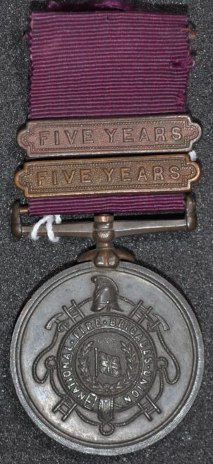 Fire Brigade Long Service Medal awarded to W.J. Church Brasier LDOSJ200E