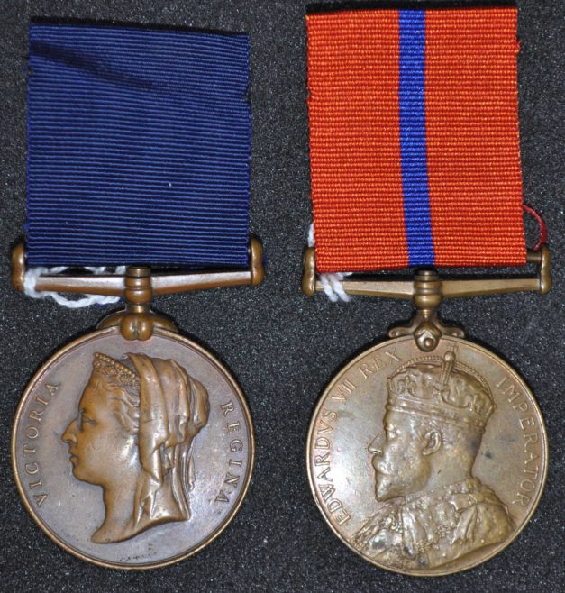 Queen Victoria Jubilee medal and Edward VII Coronation Medal awarded to W.J. Church Brasier LDOSJ200
