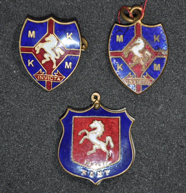 Men of Kent and Kentish Men Badges awarded to W.J. Church Brasier LDOSJ200