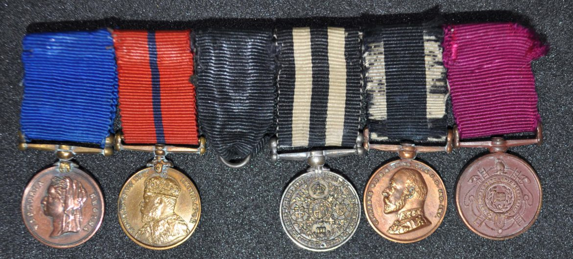 Miniature medals awarded to W.J. Church Brasier LDOSJ200