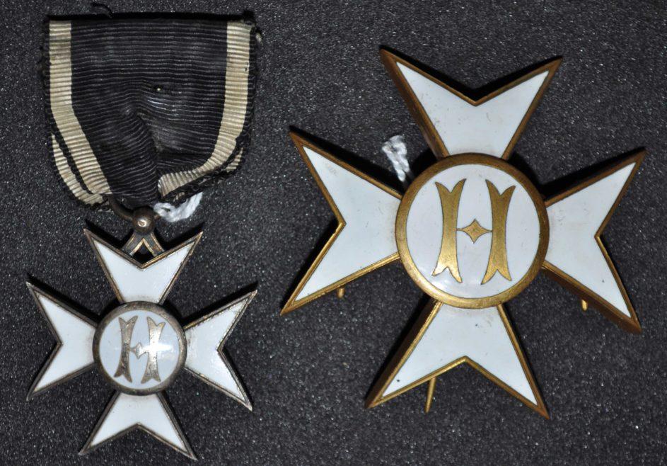 Insignia of the Spanish Hospitaller Order awarded to W.J. Church Brasier LDOSJ200H