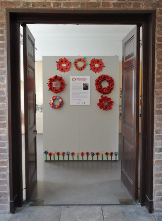 Wreaths of poppies and a display