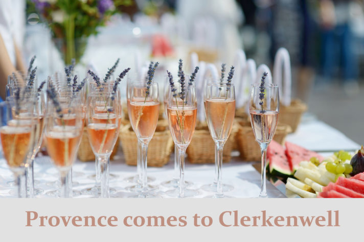 Photo of champagne glasses with lavender to show events and hire at the Museum of the Order of St John
