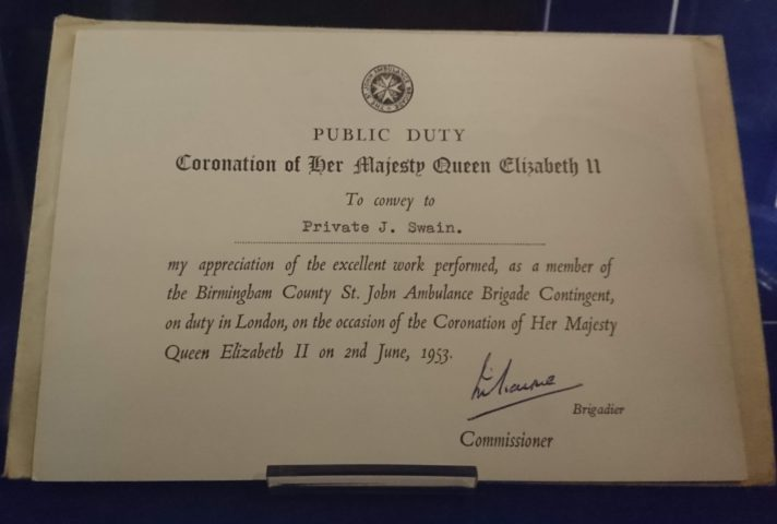 photograph of a certificate
