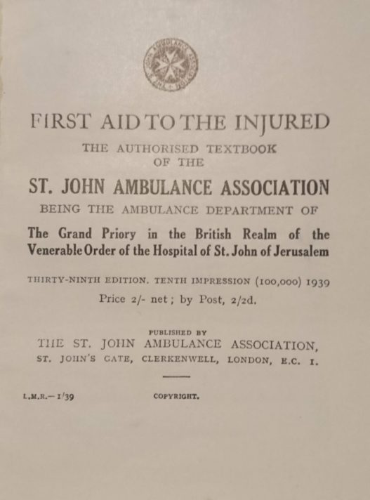 title page of First Aid for the Injured