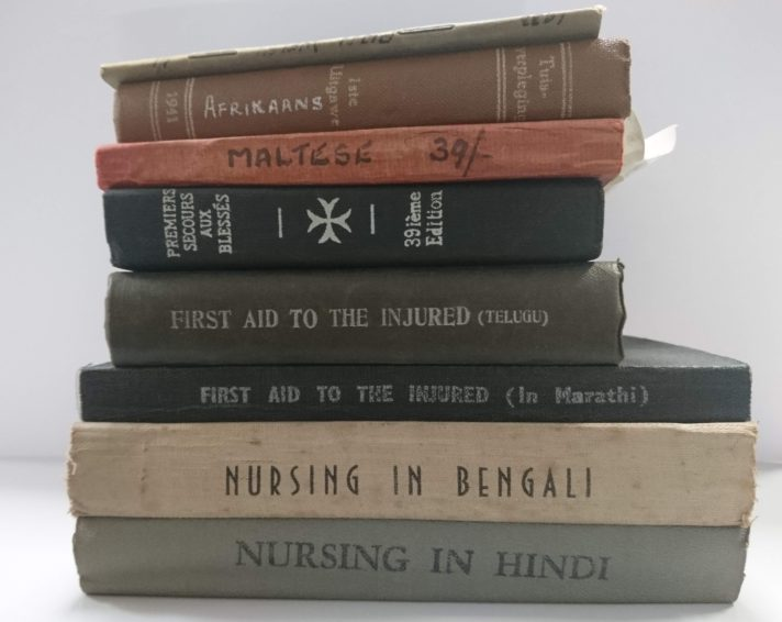 A selection of First Aid Manuals in other languages