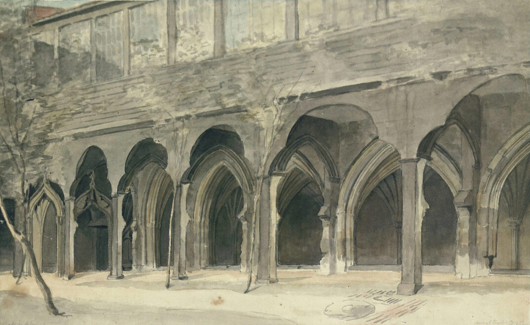 Cloister of St Mary's Nunnery, 1756. LDOSJ  6299
