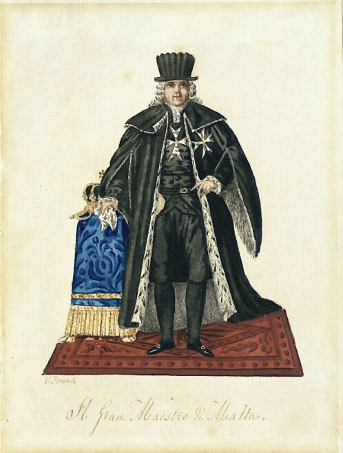Il Gran Maestro di Malta, Vincenzo Feneck. LDOSJ 7329