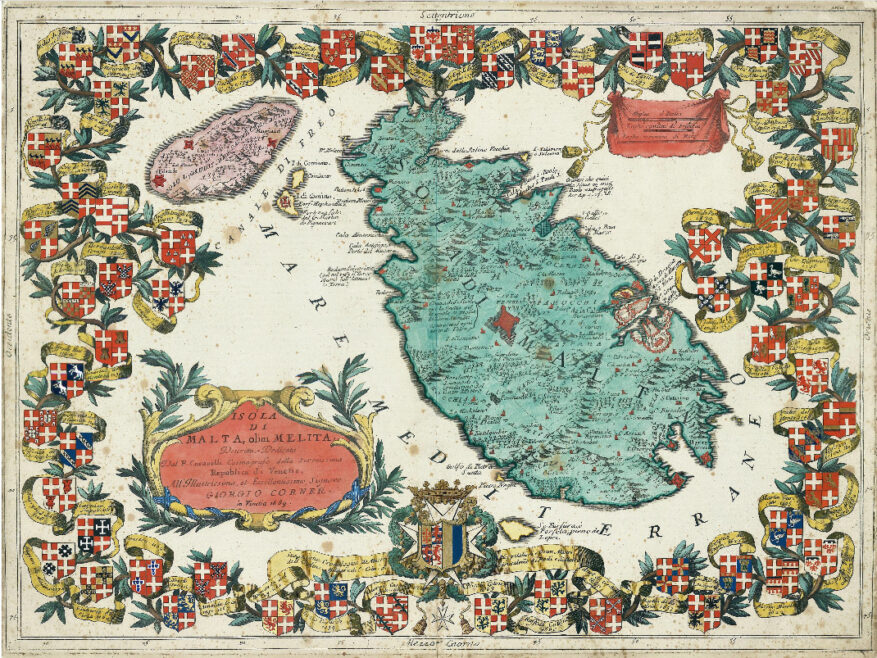 Isole di Malta, olim Melita c.1689, CORONELLI. From the Museum's Collection.