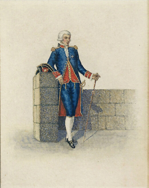 Knight of Malta in Blue Uniform, 19th century. UNKNOWN ARTIST. From the Museum's Collection.